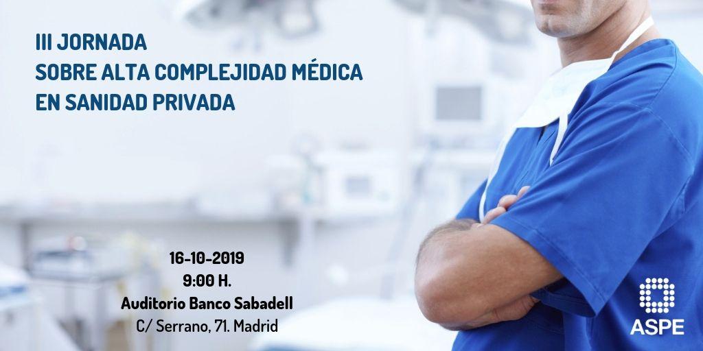 III JORNADA SOBRE ALTA COMPLEJIDAD MÉDICA EN SANIDAD PRIVADA (logo)