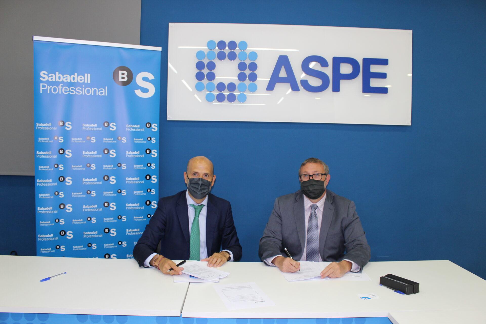 Acuerdo ASPE y Banco Sabadell